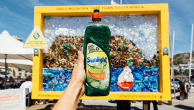 Unilever launches 100% recycled and recyclable washing up liquid bottle
